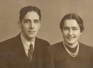 Raymond and Joyce Golsworthy, shortly after marriage.